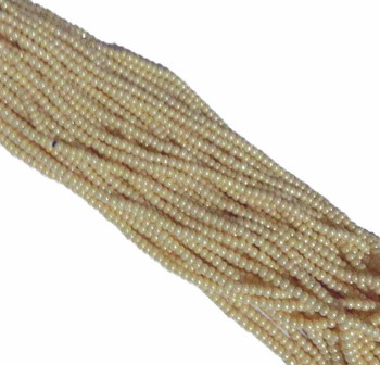 Czech 11/0 Glass Seed Beads 1 (6 String Hanks) Jablonex (Opaque Eggshell Luster) Sb1146112