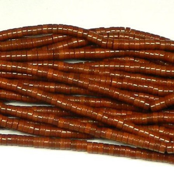 "4mm Heishi Chalk Turquoise Dyed Coffee Brown Beads 15"" B2-T545C"