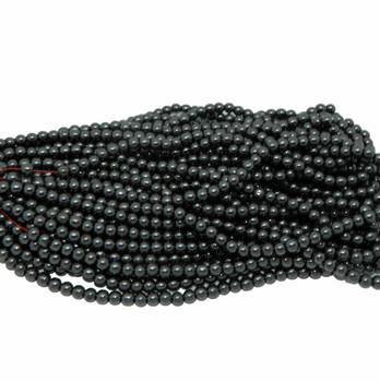 """6mm Hematite Manmade Round Beads 40Cm 15"""" Stone B2-6A21"""