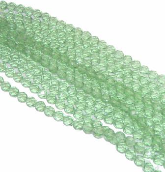 48 FirePolished Faceted Czech Glass Beads 4mm Peridot 5050