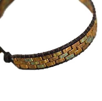 Half Tila Bracelet - Free Jewelry Making Project complements of Miyuki