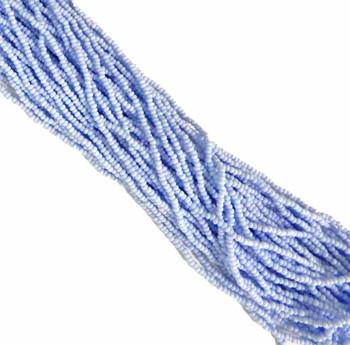 Pale Blue Opaque Czech 8/0 Glass Seed Beads 12 Strand Hank Preciosa Sb8-33000