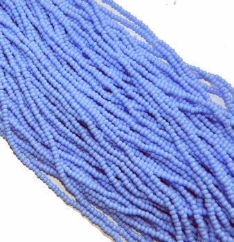 Light Blue Opaque Czech 8/0 Glass Seed Beads 12 Strand Hank Preciosa Sb8-33020