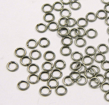 100 Jump Rings Antiqued Silver-Plated Brass 5mm Round Aproximatly 19 Gauge Open Rb-2924Fd