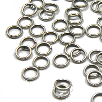 100 Jump Rings Antiqued Silver-Plated Brass 6mm Round 20 Gauge Open Rb-1685Fy