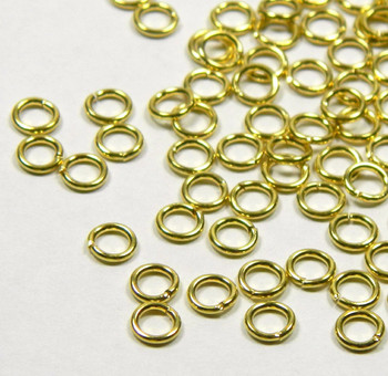 100 Jump Rings Brass 4.5mm Round 20 Gauge Open Rb-5292Fd