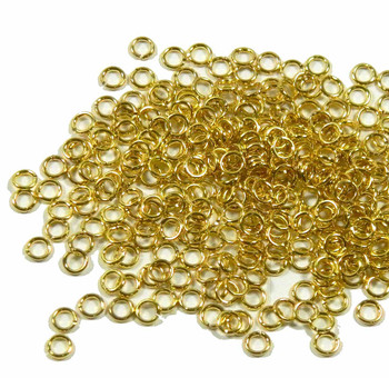 100 Jump Rings, Brass, 4mm Round, 20 Gauge Open