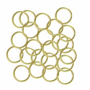 100 Jump Rings Brass 8mm Round 20 Gauge Open Rb-5294Fd