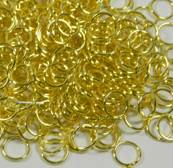 100 Jump Rings Brass 9mm Round 18 Gauge Open Rb-5303Fd