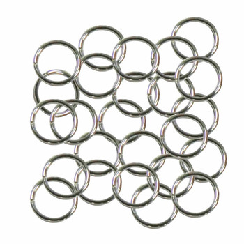 Open Jump Rings 24 Grams Approx 125Pc Nickel-Plated Brass 10mm Round 18 Gauge Gt-080526084032-Np