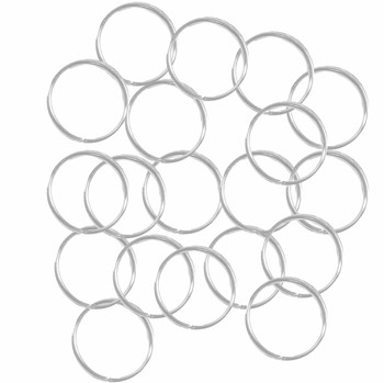 100 Jump Rings Silver-Plated Brass 12mm Round 20 Gauge Open Rb-A5128Fn