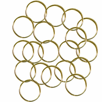 100 Jump Rings Gold-Plated Brass 12mm Round 20 Gauge Open Rb-5349Fd