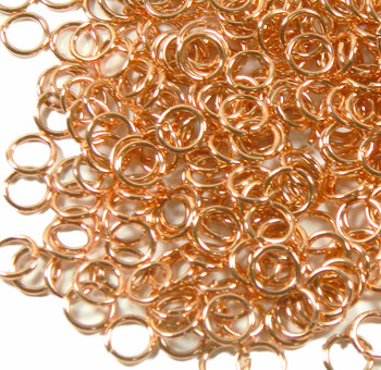 100 Jump Rings Shiny Pure Copper With Anti-Tarnish Coat 8mm Round 16 Gauge Open Rb-6485Fy