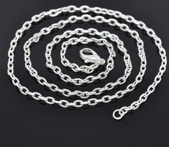 """12 Nice Newest Silver Plated Lobster Clasp Link Chain Necklaces 18/"""""""