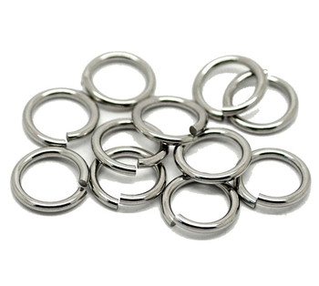 100 304 Stainless Steel Jump Rings 15mm Round 2mm Thick Jewelry Chain Links Rb18376