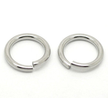 100 Stainless Steel Jump Rings 15mm Round 2mm Thick Jewelry Chain Links