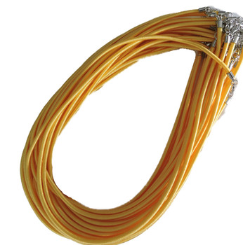 """19 4mm Satin Cord Necklaces 19"""" Yellow Lobster Claw Clasp Phnfs005-13"""