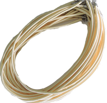 """19 4mm Satin Cord Necklaces 19"""" Pearl Lobster Claw Clasp Phnfs005-17"""