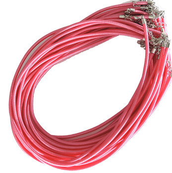 """19 4mm Satin Cord Necklaces 19"""" Pink Lobster Claw Clasp Phnfs005-03"""
