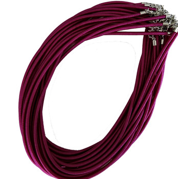 "19 4mm Satin Cord Necklaces 19"" Purple Lobster Claw Clasp Phnfs005-09"