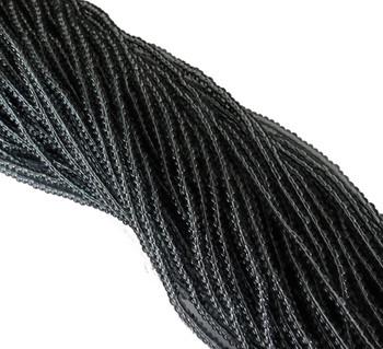 Smoke Grey Transparent Czech 8/0 Glass Seed Beads 12 Strand Hank Preciosa Sb8-40010