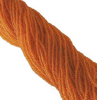 Orange Transparent Czech 8/0 Glass Seed Beads 12 Strand Hank Preciosa Sb8-90000