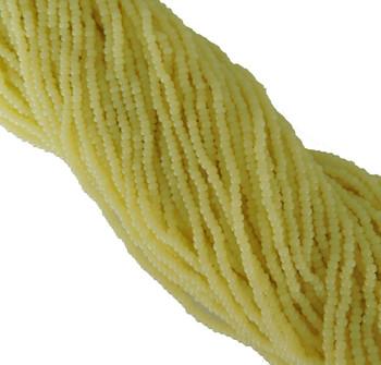 Yellow Alabaster Czech 8/0 Glass Seed Beads 12 Strand Hank Preciosa Sb8-82000
