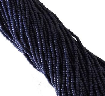 Cobalt Blue Opaque Czech 8/0 Glass Seed Beads 12 Strand Hank Preciosa Sb8-33080
