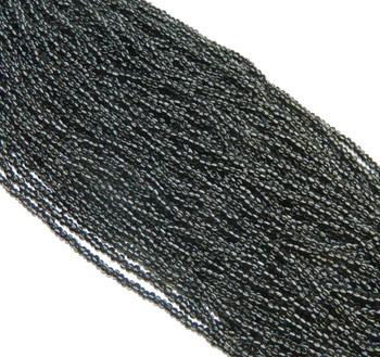 White On Black Stripes Opaque Czech 8/0 Glass Seed Beads 1 Full 12 Strand Hank Preciosa Jablonex Sb8-23300