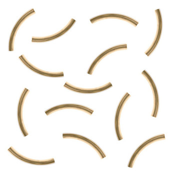 Gold Platedr 3.2x26mm Curved Tube Spacer Metal Bead 140 Tub04Gp
