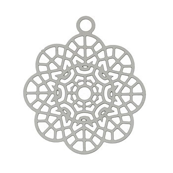 20 Thin Stainless Steel Charm Pendant 24x21mm 0.3mm Thick