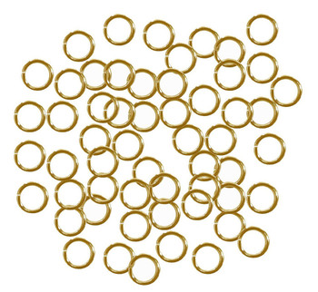 400 Jump Rings Gold Plated Brass 6mm Round 18 Gauge. Slightly Pre Opened 4mm Inside Z-G-080526082921-Gp