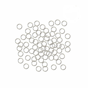 Silver Plated Brass 5mm Round 20 Gauge Open Jump Rings 24 Grams 420 Pcs Phkk-E647-17S-5mm