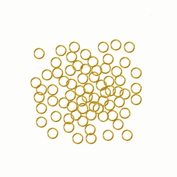 Gold Plated Brass 5mm Round 20 Gauge Open Jump Rings 24 Grams 420 Pcs Phkk-E647-17G-5mm