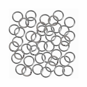 24 Grams Opened Stainless Steel Jump Rings 18 Guage 6mm Od 240Pc 8S-B10270H