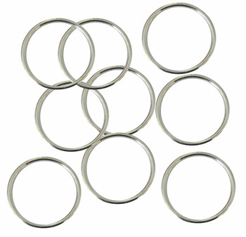 Soldered Closed Silver Plated 24mm Round 15 Gauge Jump Rings 48 Pcs B04315