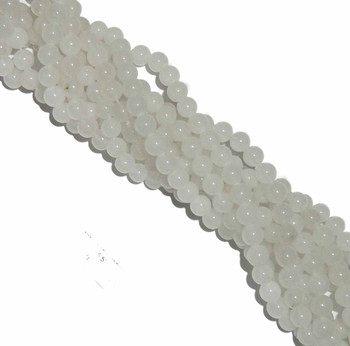 "10mm Snow Jade Round Beads 40Cm 15"" Gemstone B2-10B40"