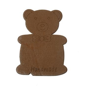 10 Wood Floss Bobbin Teddy Bear Thread Cards Rb60001