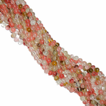 "10mm Fire Cherry Quartz Manmade Gemstone Beads Round Beads 15"" Loose Strand B2-10A46"