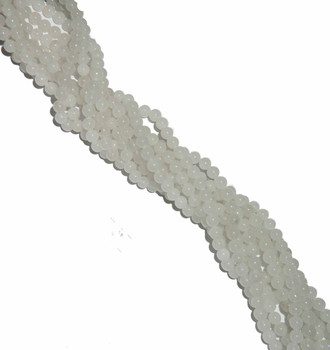 "4mm Snow Jade Round Beads 40Cm 15"" Gemstone B2-4B40"