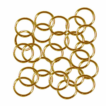 Open Jump Rings 24 Grams Approx 125Pc Gold-Plated Brass 10mm Round 18 Gauge Gt-080526084032-Gp