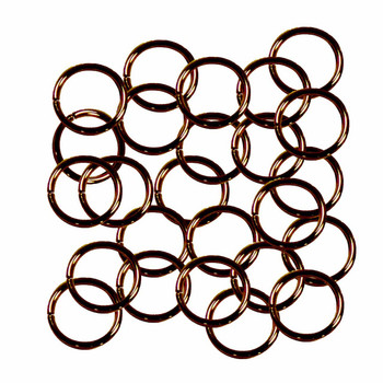 Open Jump Rings 24 Grams Approx 125Pc Antique Copper-Plated Brass 10mm Round 18 Gauge Gt-080526084032-Ac