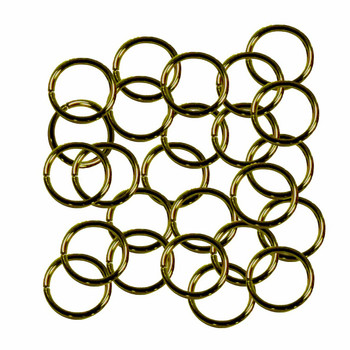 Open Jump Rings 24 Grams Approx 125Pc Antique Gold/Brass-Plated Brass 10mm Round 18 Gauge Gt-080526084032-Ag
