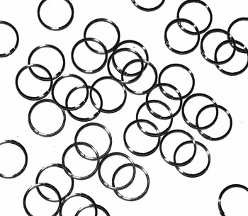 Open Thin Jump Rings 24 Grams 245Pc Gunmetal-Plated Brass 10mm Round 21 Ga Gt-080526051752-Bo