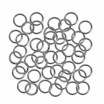 Open Jump Rings 24 grams Steel Tone Plated Brass 8mm Round 18 Gauge approx 165pc