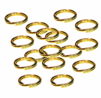 24 Split Ring Lanyard Dog Tag Polished Brass 28mm Usa 90304-24