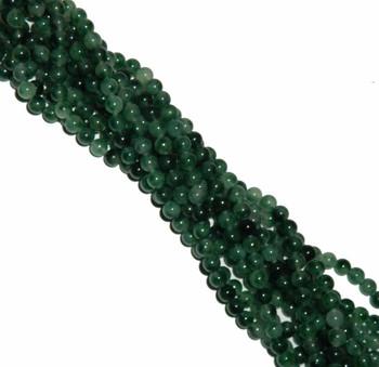 """8mm Moss Jade Round Beads 40Cm 15"""" Gemstone B2-8C61"""