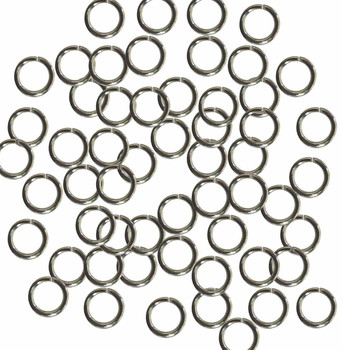 Open Jump Rings 24 Grams Approx 200Pc Steel Tone Plated Brass 7mm Round 18 Gauge Gt-080526083114-Np