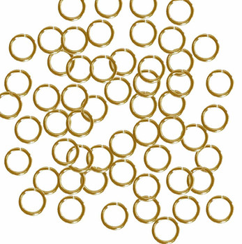 Open Jump Rings 24 Grams Approx 200Pc Gold Plated Brass 7mm Round 18 Gauge Gt-080526083114-Gp