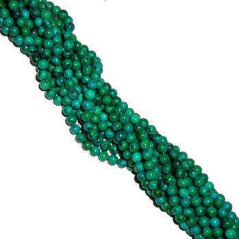 "8mm Azurite Chrysocolla Dyed Round Beads 40Cm 15"" Stone B2-8D41"
